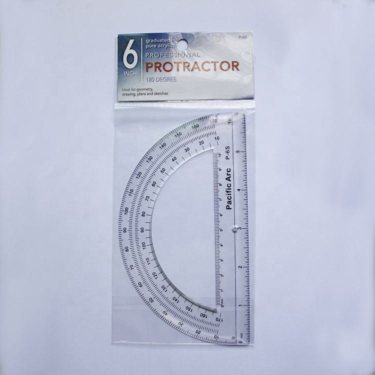 6 Inch Clear Plastic Protractor