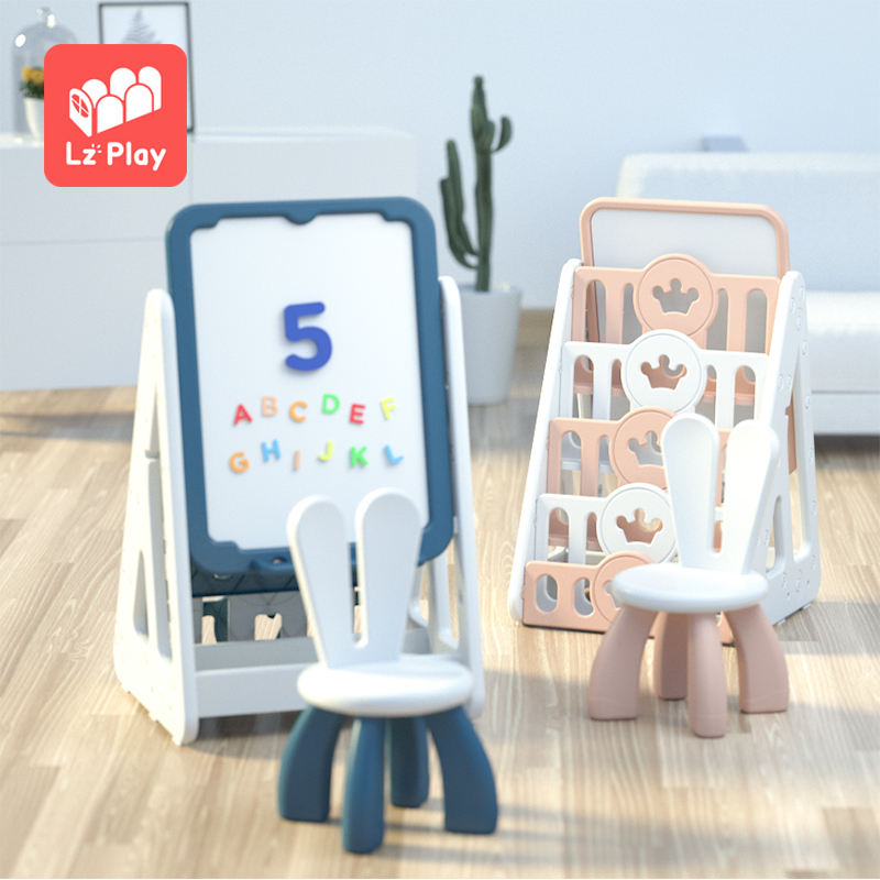 Adjustable multi function kindergarten bookshelf small baby bookcase plastic toys storage kids book shelf for children furniture
