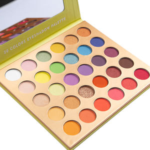 Private label cosmetics makeup 30 colors eye shadow palette no brand imported wholesale makeup eyeshadow palette