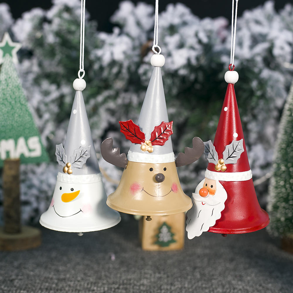 Metal Christmas Hand Bell Hand Held Call Bells Santa Claus Tea Jingle Bells Party Celebrate Rattle Tools Decoration Supplies
