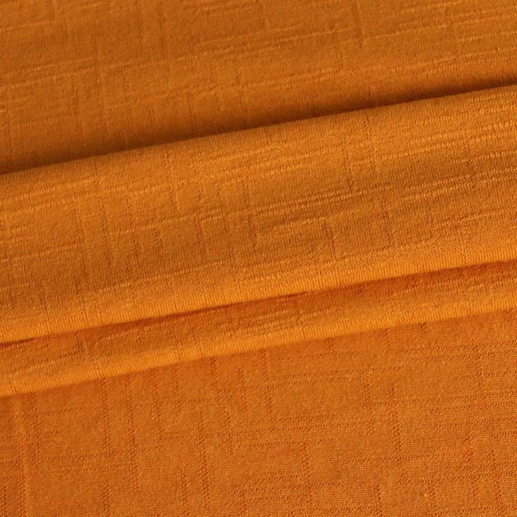 661#62% polyester, 33% rayon and 5% spandex irregular knitted jacquard fabric for summer clothing