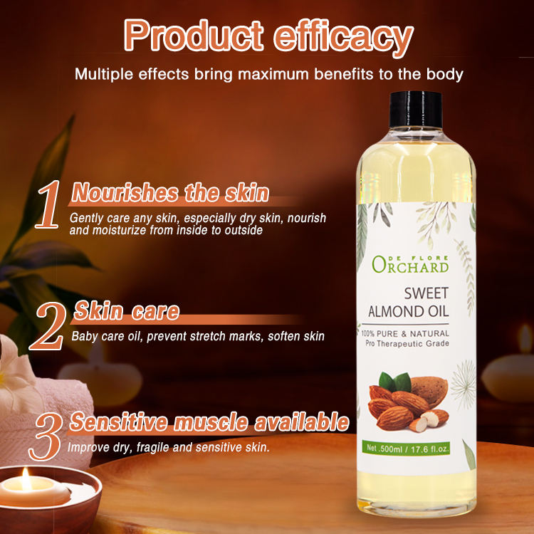 Beauty Product 100% Pure Sweet Almond Oil Carrier Oil Factory Wholesale