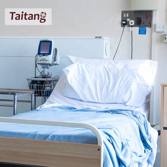 Taitang Bedding Set Hospital Linen Bed Sheets Custom Size Satin Cheap Hospital Bed Sheets White
