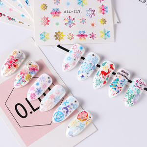 Instagram 30pcs set colorful cartoon Christmas nail decals water transfer paper stickers decorative paper
