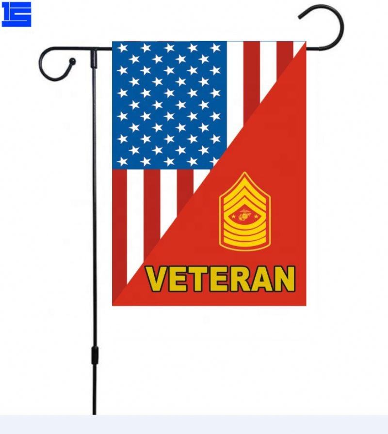 Veterans Garden Flag 12 X 18 Inch Size Banner For Yard Decorative