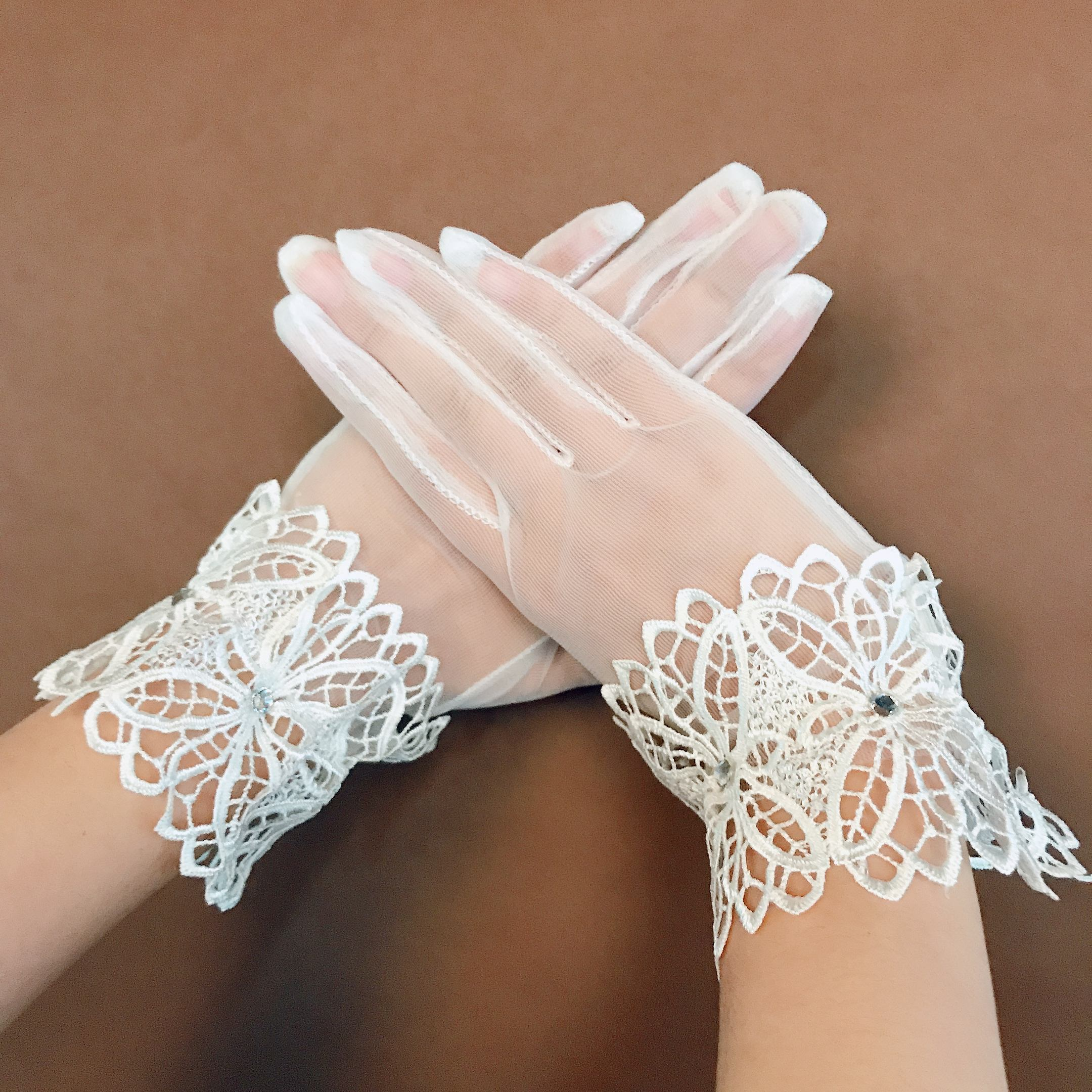 hot sell sexy short lace party wedding bride gloves decoration