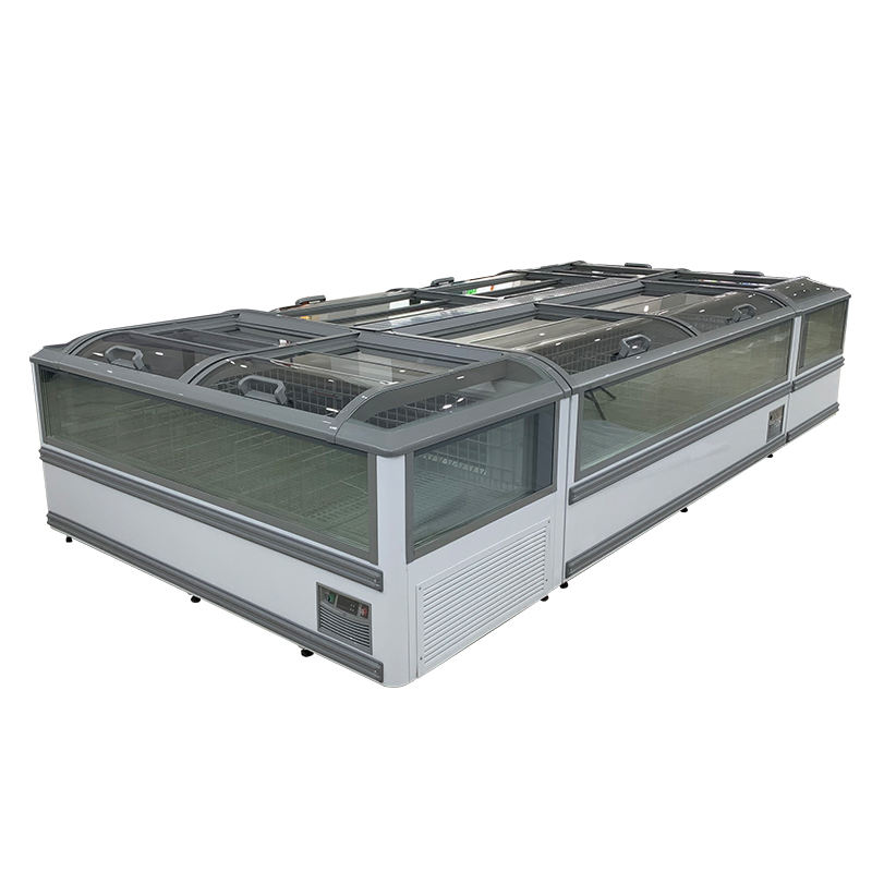 refrigeration aht santa double island freezer for supermarket