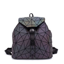 LOVEVOOK women backpack school bag for teenagers girls large capacity foldable geometric luminous backpack
