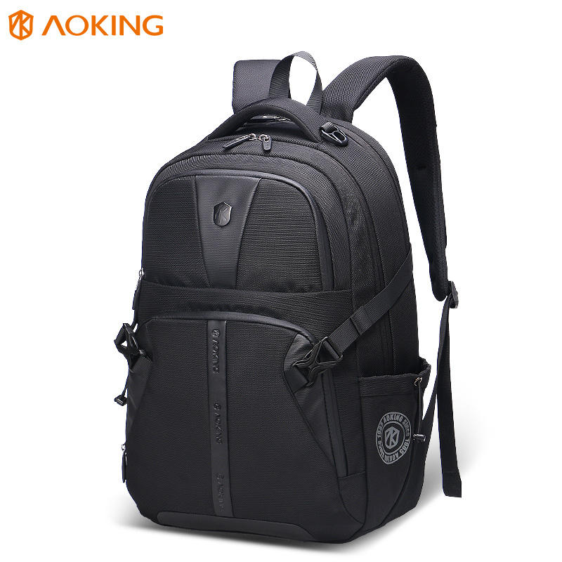 2020 aoking korean style fashion bag polyester student 156 computer backpack business brand usb changer men laptop backpack bag