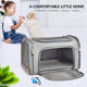 Pet Carrier Airline Approved Custom Color Logo Foldable Portable Soft Pet Carrier Dog Cat Travel Bag