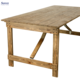 Rustic Wood Folding Dining Farm Table