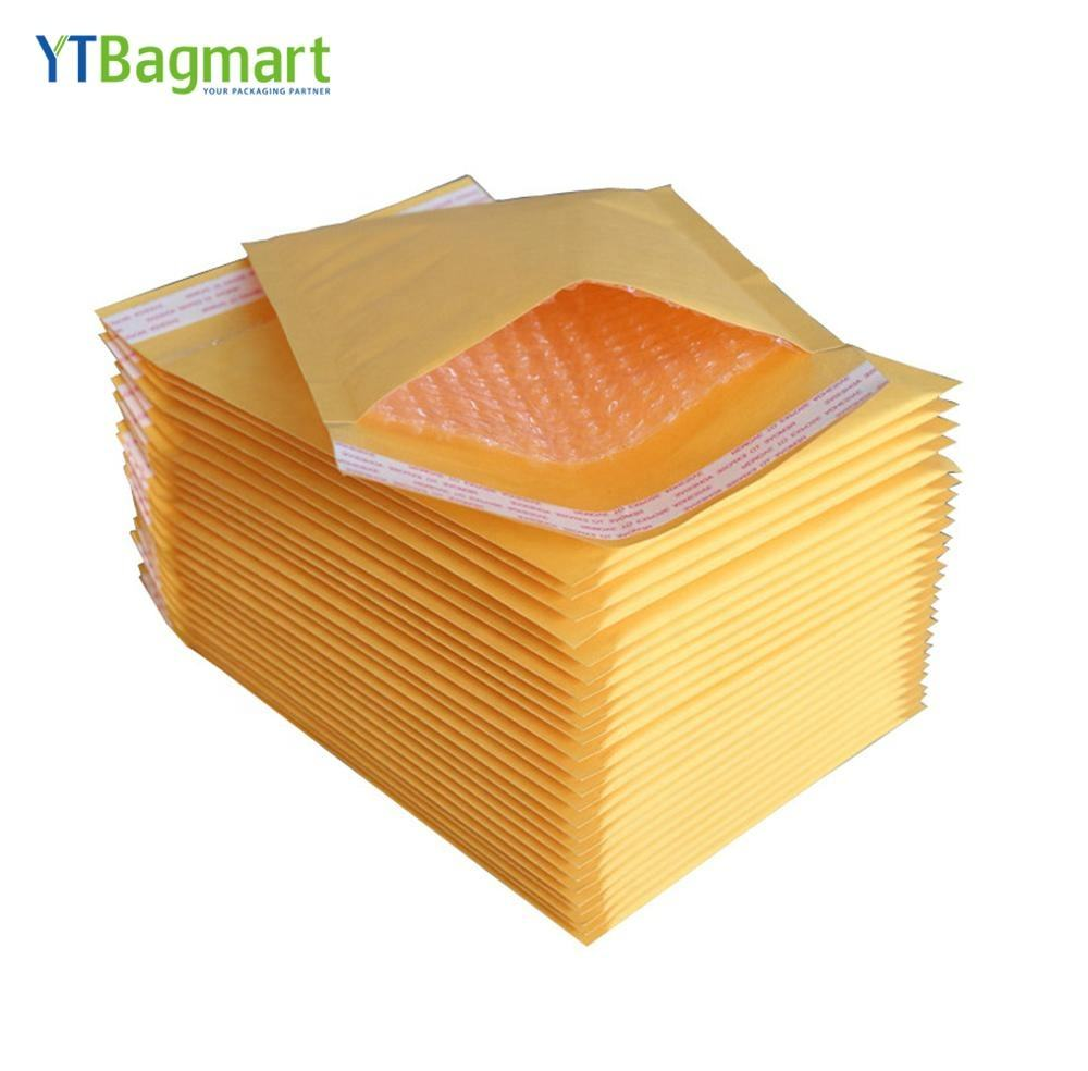 Custom Printed Logo Self Sealing Letter Air Padded Envelope Courier Bag Bubble Mailers Mailing Bags Kraft Paper