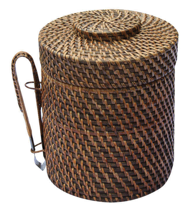 Vietnam direct supplier round rattan ice bucket