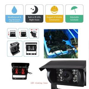 front rear side view reverse 720p ahd vehicle monitoring system 7 inch monitor bus CCTV camera truck 12v 24v camera system