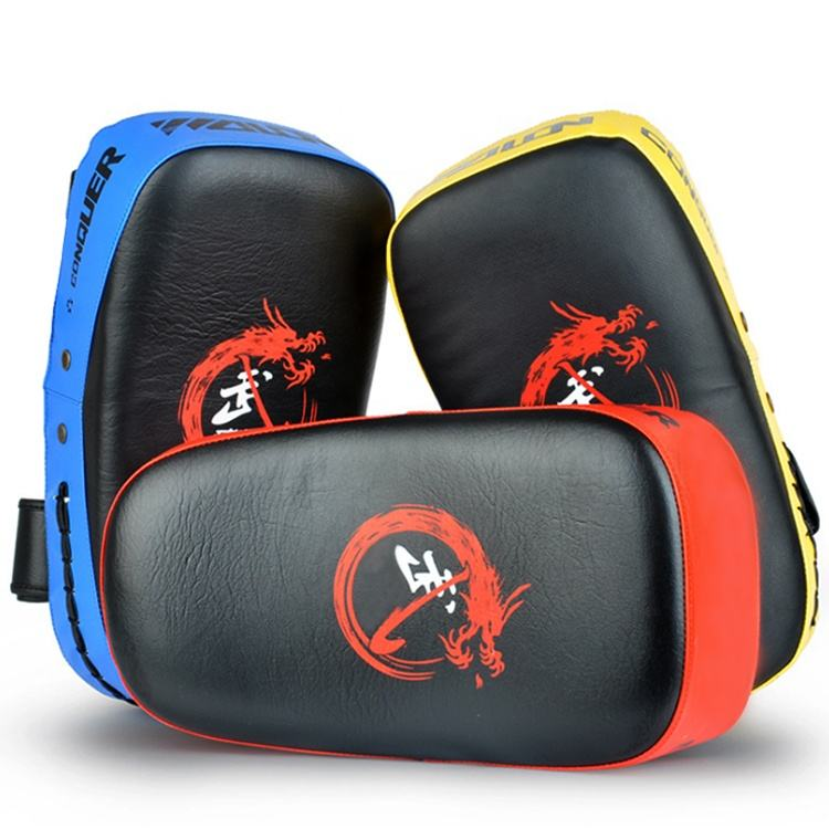 Durable Curved thai MMA kickboxing Kick/Strike Pads Punching Kicking Focus Target/taekwondo training equipment kick paddles