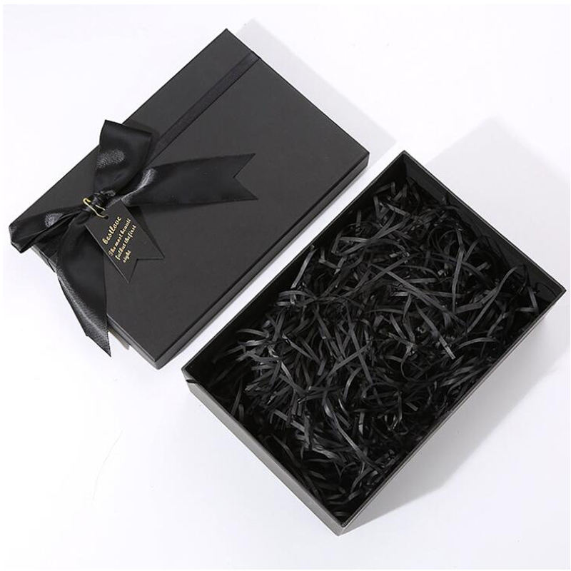 Luxury black Cosmetic clothes Bow gift packaging Custom logo gift Paper Box
