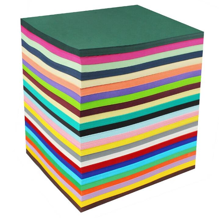 Construction Paper Factory Wholesale A4/A3 Size Customized Origami Handmade Wrapping Colour Craft Paper For School