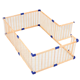 Freestanding Folding Safety Play Game Yards Fence Foldable Wooden Playpen