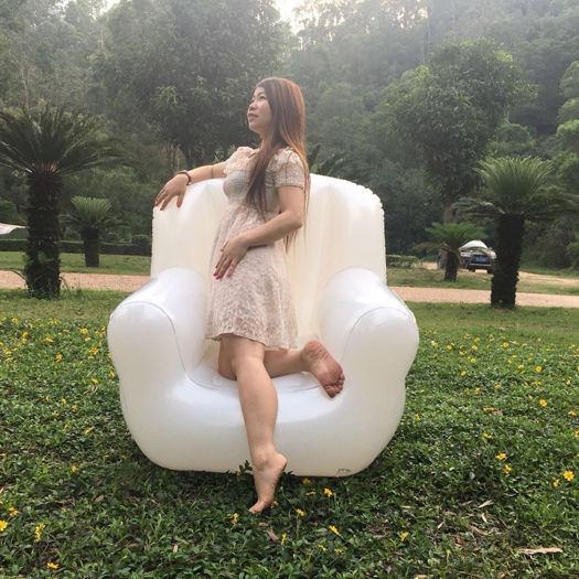 Factory quality cheap inflatable transparent sofa for sale inflatable chair for garden and couch in beach