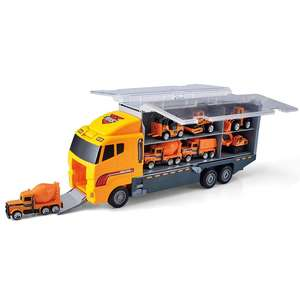 12 in 1 Die-cast Construction Truck Vehicle Car Toy Set Play Vehicles in Carrier Engineering Cargo Truck Models