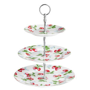 3-layer wedding birthday unbreakable teatime decorative western style fashionable melamine cake stand