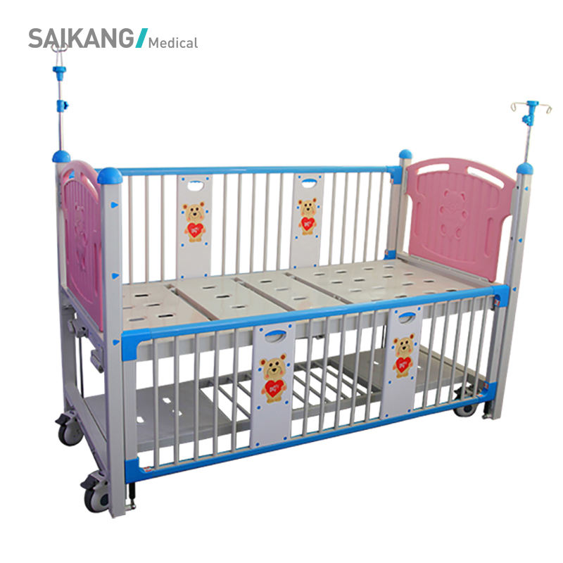 X03-2 CE Factory Simple Children Pediatric Manual Hospital Cartoon Beds For Sale