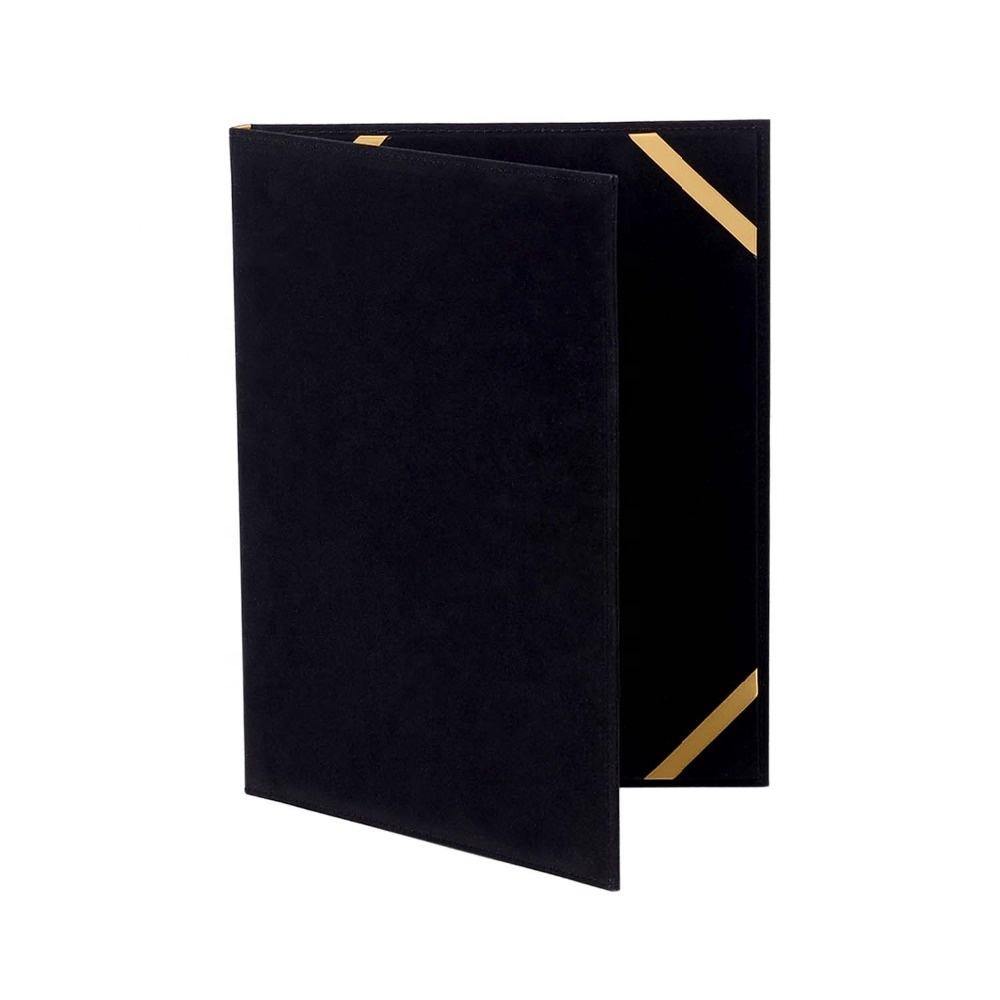 Black Velvet Certificate Holder Diploma Case Covers