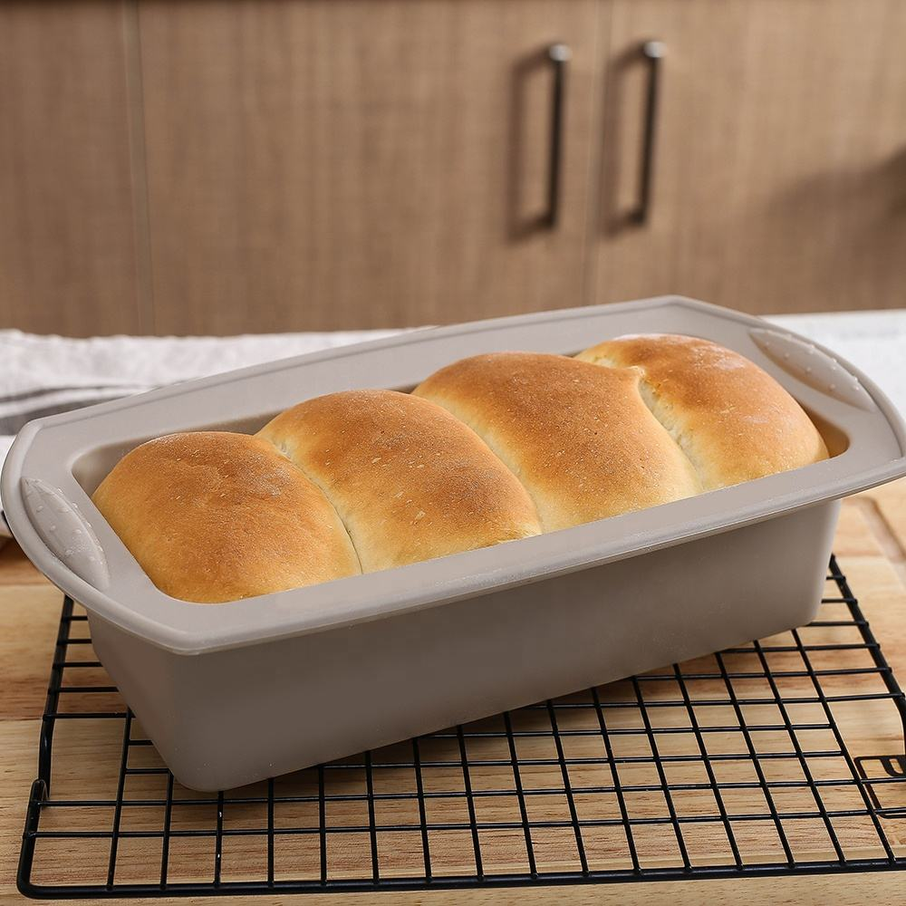 High Quality Mutlfunction Silicone Bakeware Tools Toast Muffin Bread Loaf Baking Tray Pan Mould