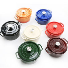 Hot sale customized enamel cooking pots set wholesale nonstick enamel cast iron cookware sets