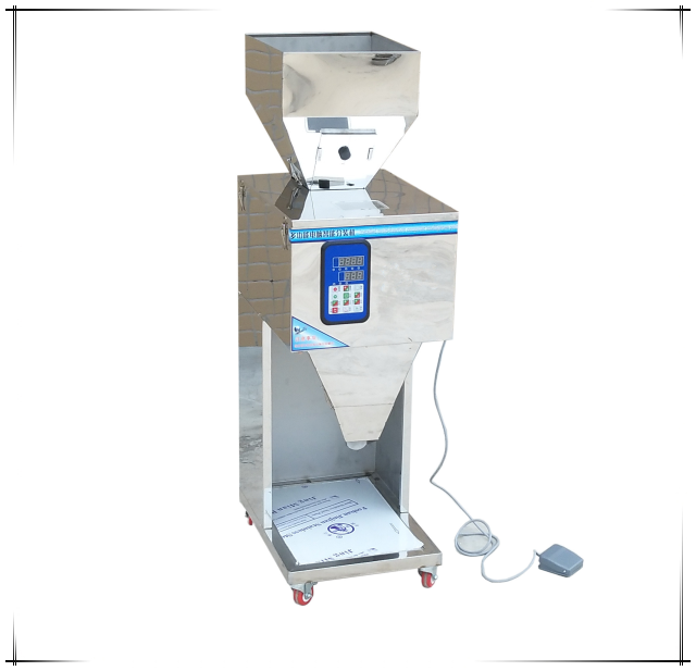 seed powder weighting beans plastic granules dosing coffee filling automatic weiging dispensing herb intelligent racking machine