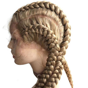 Wholesale Price Lace Glueless Lace Front Wigs Human Hair High Braid synthesis hair wig