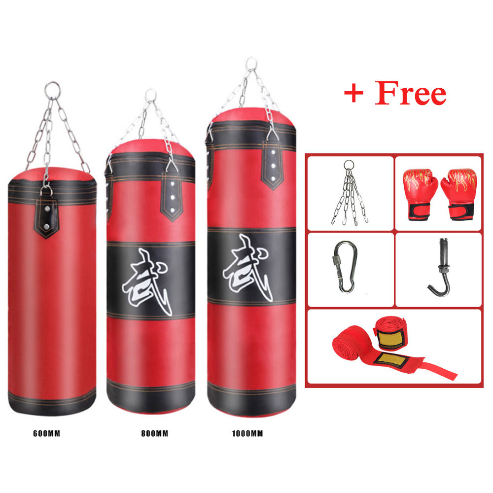 NEW Professional Boxing Training Bag Set Hanging Kick Fight Sandbag Muay Thai Empty-Heavy Boxing Bag