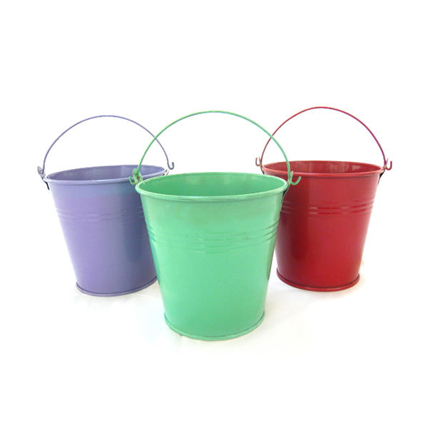 Home Decoration Mini Metal purple/green/red bucket,the galvanized mini bucket can be planted and contains small items