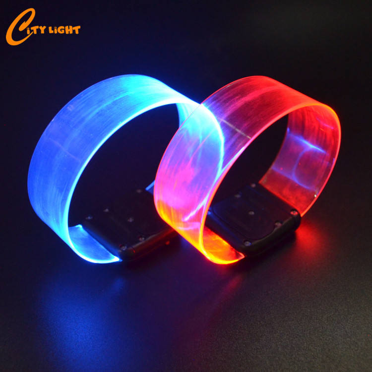 NEW year Christmas party magnet led flashing bracelet, glow wristband