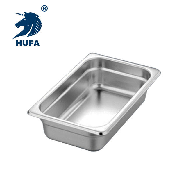 Hospitality Supplies 1/4 6.5CM Depth European Style Buffet Gastronorm Food Pans Hot Selling Metal GN Pan