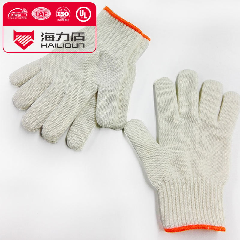 Heat insulating meta aramid glove yarn fire resistant aramid gloves