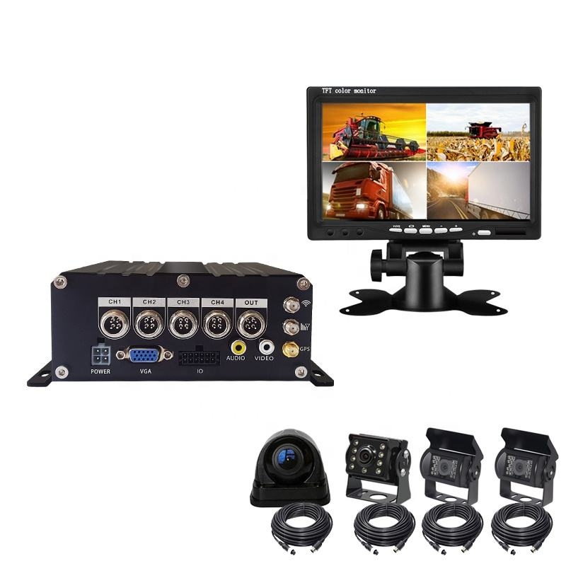Nieuwe Collectie Mini Sd-kaart Hdd 1080P Ahd H.265 4 Kanaals Mobiele Auto Dvr Realtime Video Recorder Met Wifi 3G 4G Gps