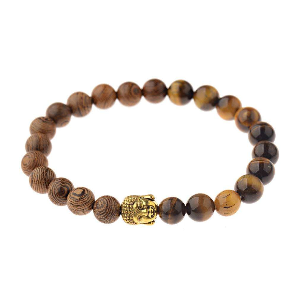 New Wooden Jewelry Buddha Bracelet,Fashion Tiger Eye Stone Beaded Bracelet,Couple Wood Bead Bracelet