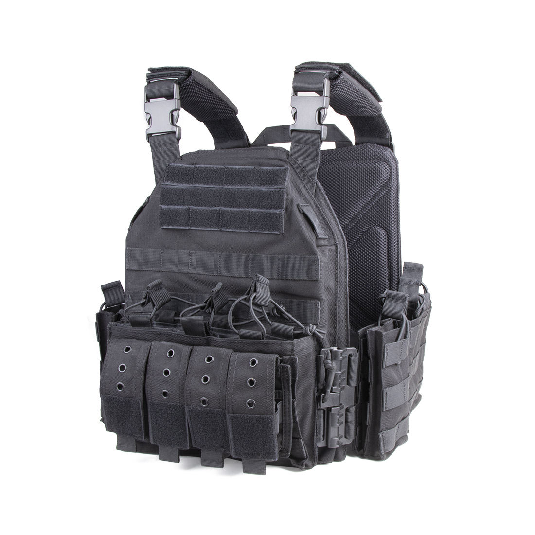 NcDe Molle Tactical Vest-104 Adjustable Plate Carrier 1000D Nylon With Quick Release Version