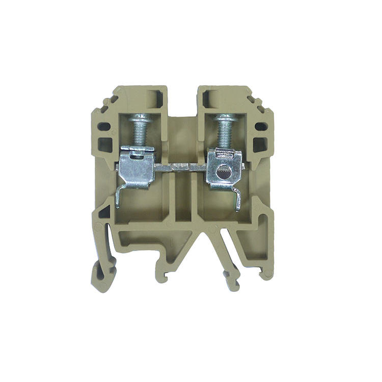 V0 PA66 feed male and female through dc panel mounted terminal block