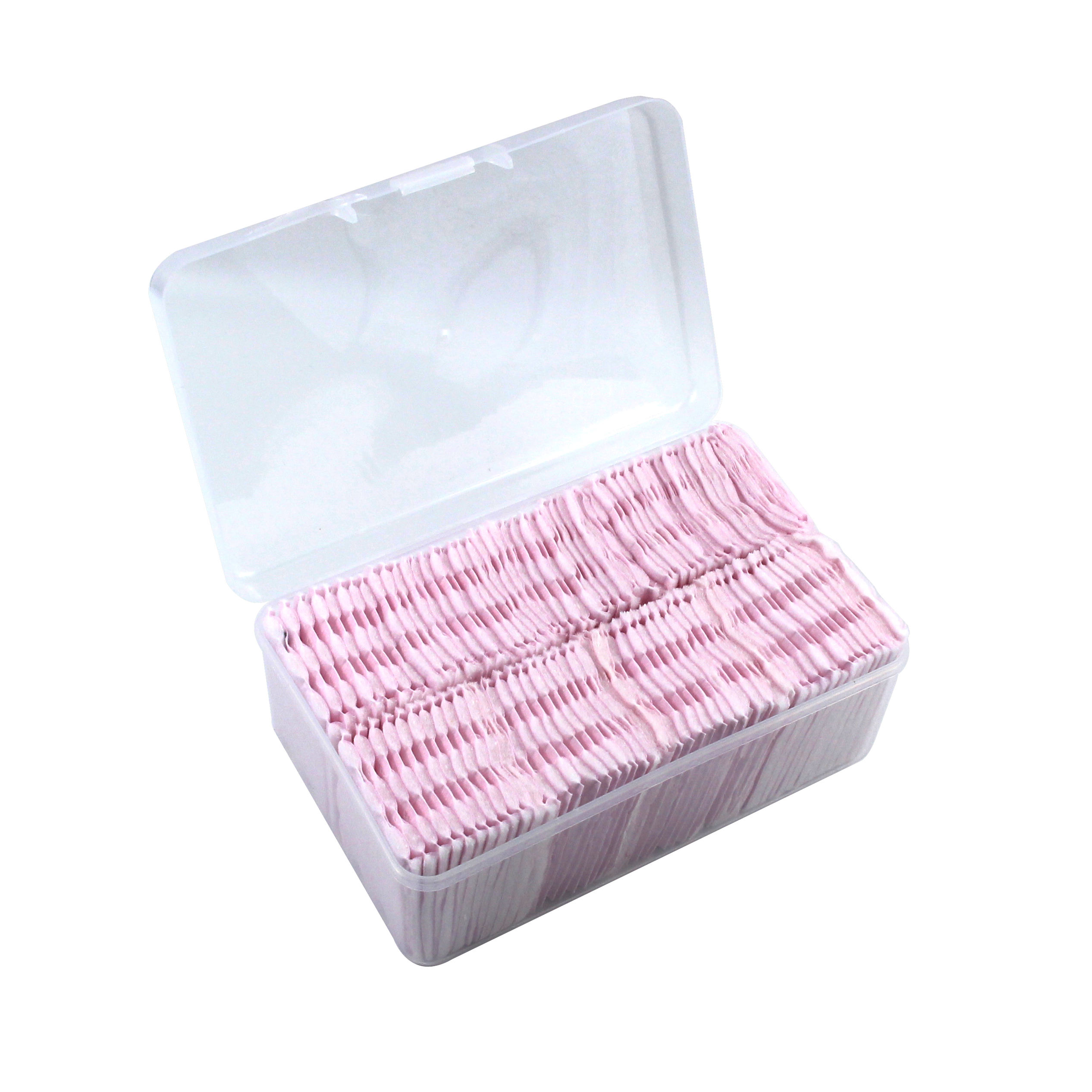 Eco-Friendly Make-Up Facial Cotton Pads For Cosmetic Use Pink Color