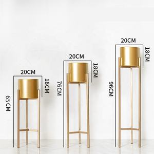 Newest design hot sale golden high-quality acrylic flower stand designs for decoration
