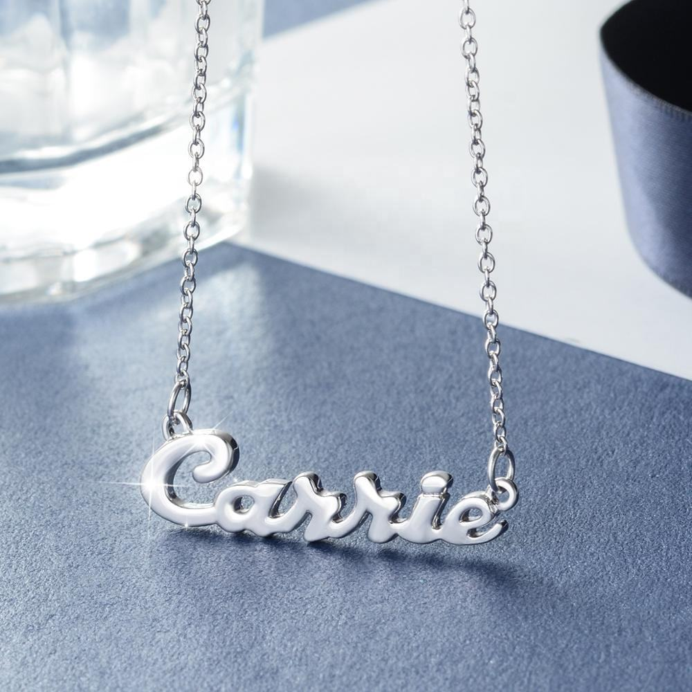 Wholesale 925 Sterling Silver Jewelry Custom Personalized Name Necklace