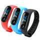 Biodegradable Wristband Wear Os Sports Remote Controlled Led Bracelet Smart Wrist Watch Wristband Gym Android M4 Smart Watch
