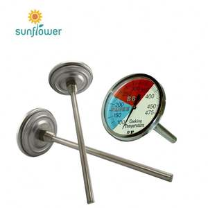 Barbecue BBQ Pit Smoker Grill Thermometer Temp Gauge