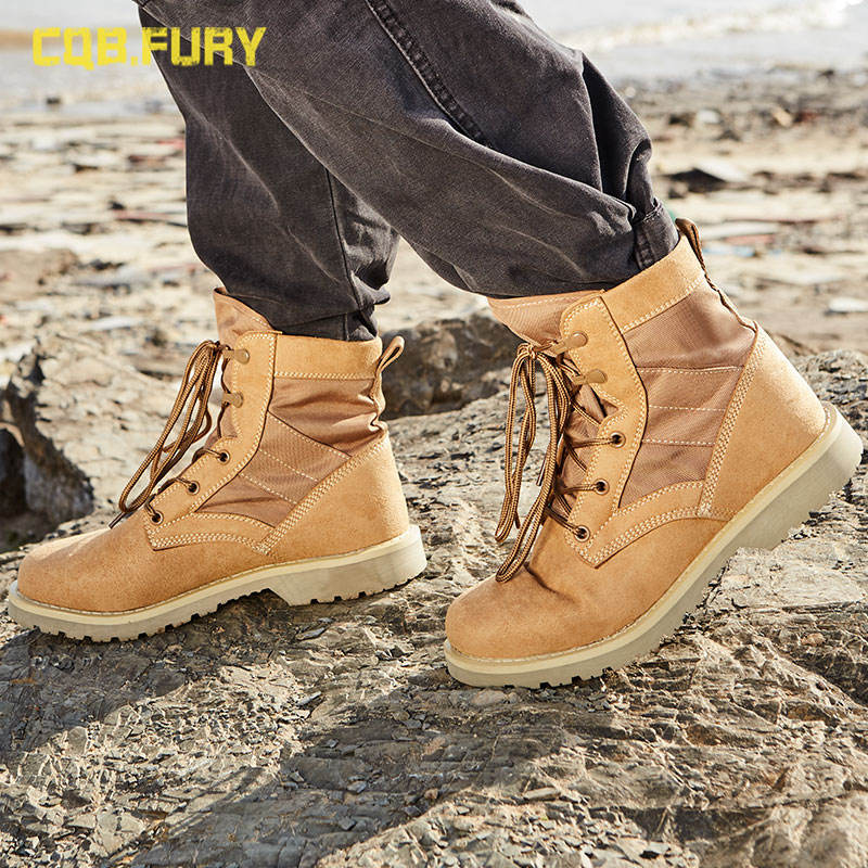 Wholesale High Ankle American Style Leather Men Army Desert Cheap Tactical Boot Military Boots