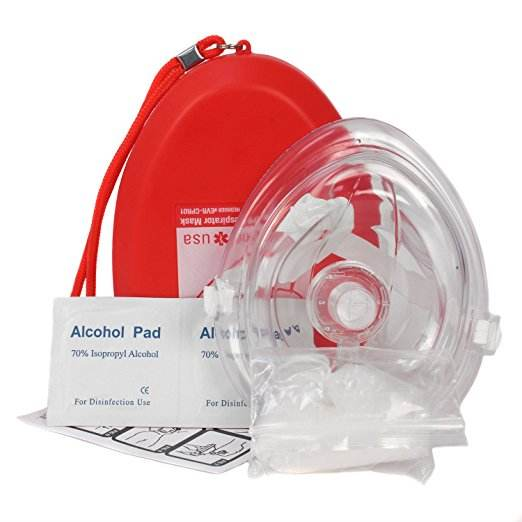MM-CPR020A Reusable Rescue CPR Mask With Heart Shape Hard Case