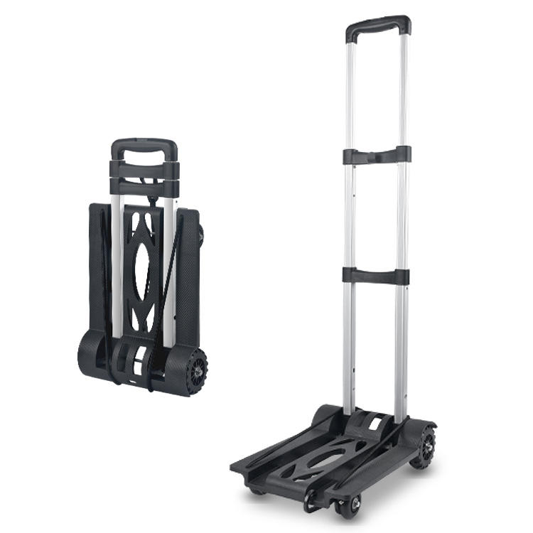 High-quality foldable trolley can be tied to shopping bags Sturdy and portable trolley