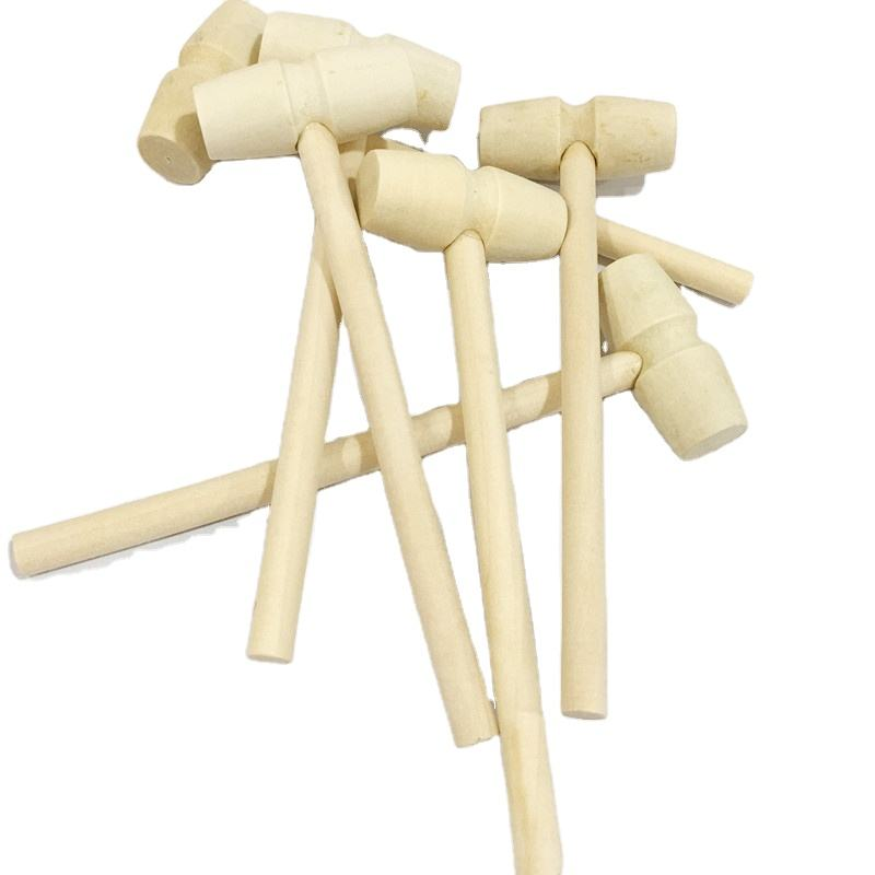 Factory direct sales solid wood mini mallet children's toys art decoration small wooden hammer