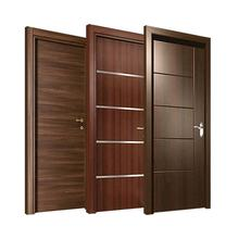 Wooden project panel simple design flush single room door wooden houses interior door